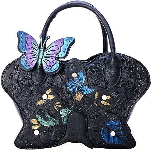 ZTDXCL Women's Clutch Bag Butterfly Dinner Package Party Banquet Wedding Dress Dance Party Evening Bag, Black