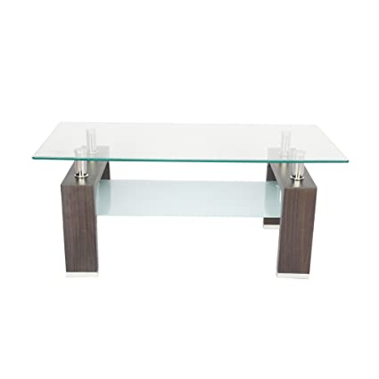 Carigari Rectangular Brown Mdf With Glass Center Table Crg_60 11