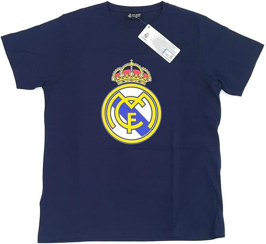 Camiseta Real Madrid Adulto Marino Escudo Centro [AB3911]: Amazon ...