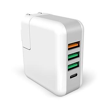 Carga rápida 3.0, qikafan Cargador de pared USB 1 puerto qc3 ...