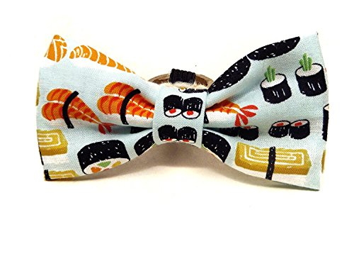 Very Vintage Designs Sushi Roll - Japanese Sushi Sashimi Asian Kawaii Whimsical Vintage Hand-crafted Bow Tie for a Dog or Cat Collar - Bowtie only - Handmade in the USA