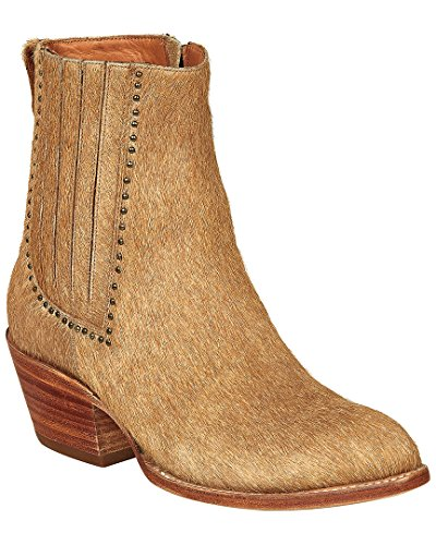 Lucchese Women's Adele Natural Hair on Calf 6.5 B US - Lucchese Natural