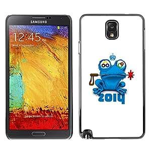Stuss Case / Funda Carcasa protectora - Frog Prince Fairytale Animal Nature Blue Crown - Samsung Note 3 N9000 N9002 N9005