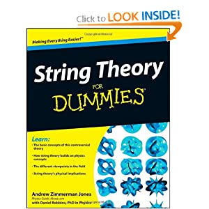 String Theory For Dummies Andrew Zimmerman Jones, Daniel Robbins