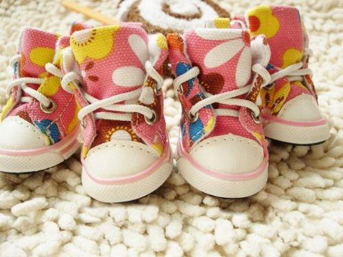 Dog's Footwear Pet's Cute Sneakers Animal Shoes Pink Color way-Size 1