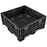 Orbis HDRS4548-19 Heavy-Duty BulkPak Container - 48''L x 45''W x 19-5/16''H - Fixed Wall Black