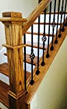 Iron Baluster Shoes - Slant Shoe with Screw - for