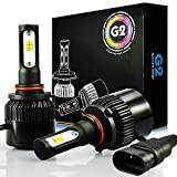 xenon white headlights - JDM ASTAR G2 8000 Lumens Extremely Bright CSP Chips 9005 All-in-One LED Headlight Bulbs Conversion Kit, Xenon White