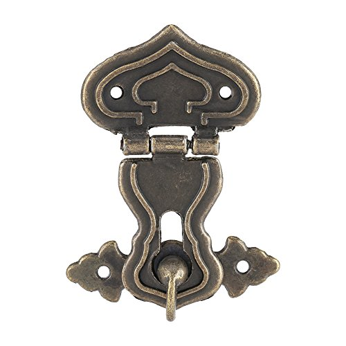 Pack of 10 Retro Style Bronze Tone Latch Jewelry Case Box Lock Latch Hasp for Wooden Box (Length 6.3cm Width 4.8) by Yosoo