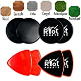 Cheap Gliding Discs | Core Sliders | Dual Sided Exercise Discs for Core Exercises, strength and conditioning | For Carpet or Hardwood Floors | Full Body Workout, Compact for Travel or Home (Round Black)
