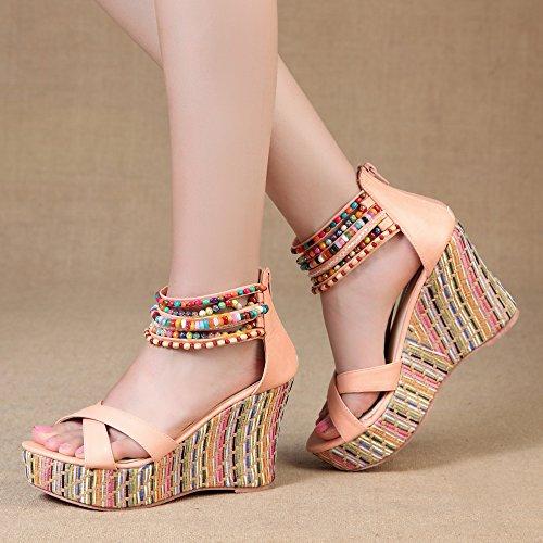 GetmorebeautyUpdate - Zapatos de tacón  mujer Rosa - rosa