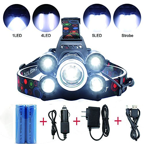 Led 4 Mode Headlamp Light Torch Camping Flashlight in US - 6