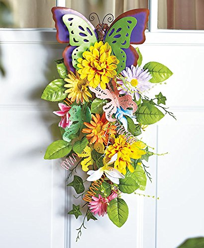Spring Butterfly Floral Swags