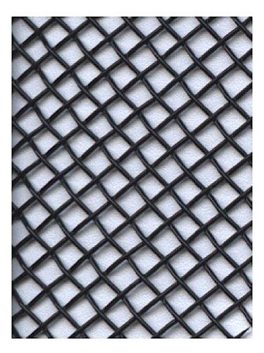 Amaco WireForm Metal Mesh black coated aluminum woven modeler's mesh - 8 mesh - Black Mesh Material