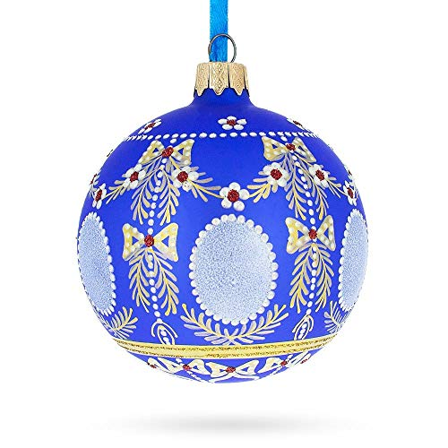 (BestPysanky 1908 Alexander Palace Royal Egg Glass Christmas Ornament)