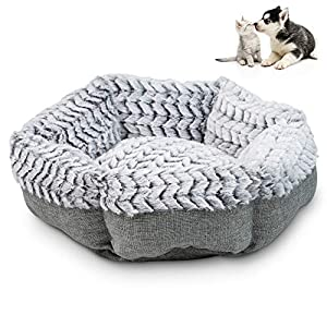 Pet Craft Supply Soho Round Machine Washable Memory Foam Comfortable Ultra Soft All Season Self Warming Cat Kitten Puppy…