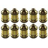 AAF Antique Light Socket Brass, Keyless, Medium Base, Pack of 10