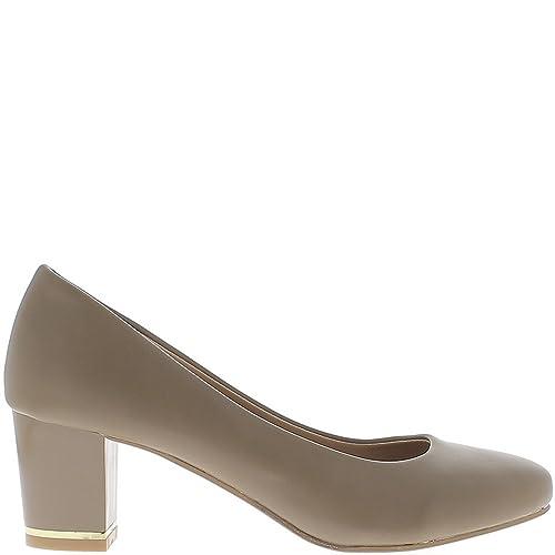 scarpe esclusive prezzo di strada corrispondenza di colore retrò Scarpe Color Tortora con Piccoli Tacchi di 6cm - 38 ...