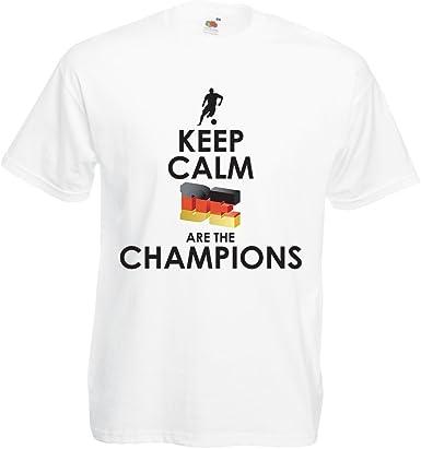 Camisetas Hombre Los alemanes Son los campeones - Campeonato de Rusia 2018, Copa Mundial de fútbol, Equipo de la Camiseta del Ventilador de Alemania: Amazon.es: Ropa y accesorios