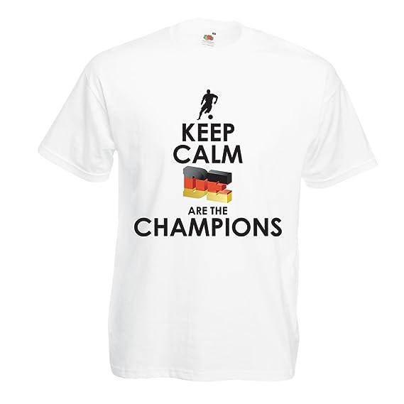 Camisetas Hombre Los alemanes Son los campeones - Campeonato de Rusia 2018, Copa Mundial de Fútbol, Equipo de la Camiseta del Ventilador de Alemania: ...