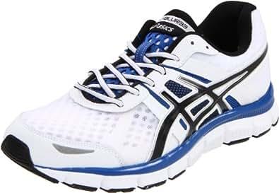 ASICS Men's Gel-Blur33 Running Shoe,White/Black/Royal,8 M US