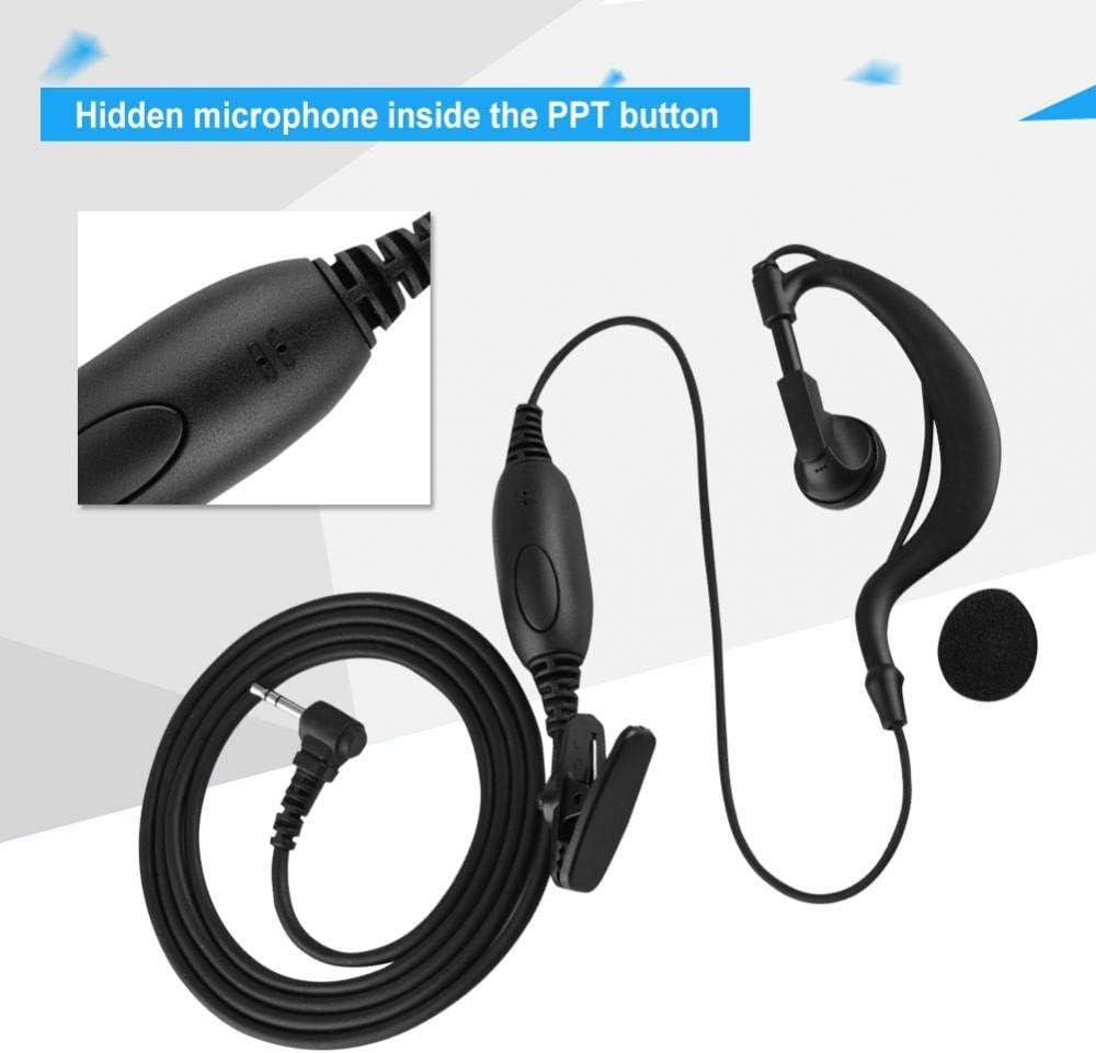 /écouteurs PTT et Microphone pour EM1000 MR350R MC220R EM1000R Ccylez 2 /écouteurs en Forme de G en Forme de G Casque de Talkie-walkie /à Broche Unique de 2,5 mm MH230R MB140R