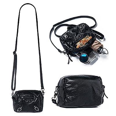 Crossbody Bag for Women Vegan Leather Shoulder Handbag Ladies Small Messenger Bags Daily Cellphone Purse Organizer Fit iPhone X 8 7 Plus 6S/6 Samsung Galaxy S8+ S7 S6 Edge S5 Soft Lightweight Katloo
