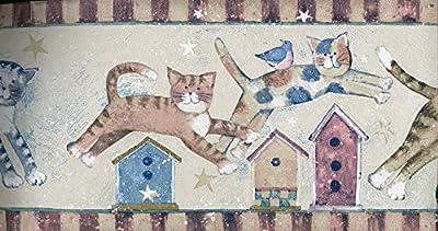 CHILDREN Susan Winget Jumpin Cats Wallpaper Border 75933 SU