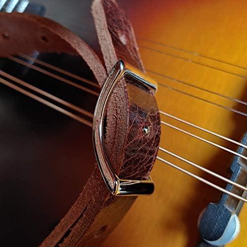 Henry Heller 3//4 marrone Baxter Boot pelle Mandolino o Ukulele Strap regolabile 86-127 cm USA Made