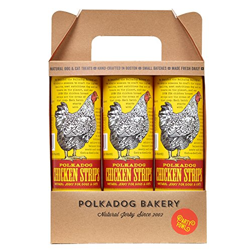 Dog Bakery Polka (Polka Dog Bakery Party Fowl 3-Pack Of 4 Oz Chicken Strips, Made In Usa)