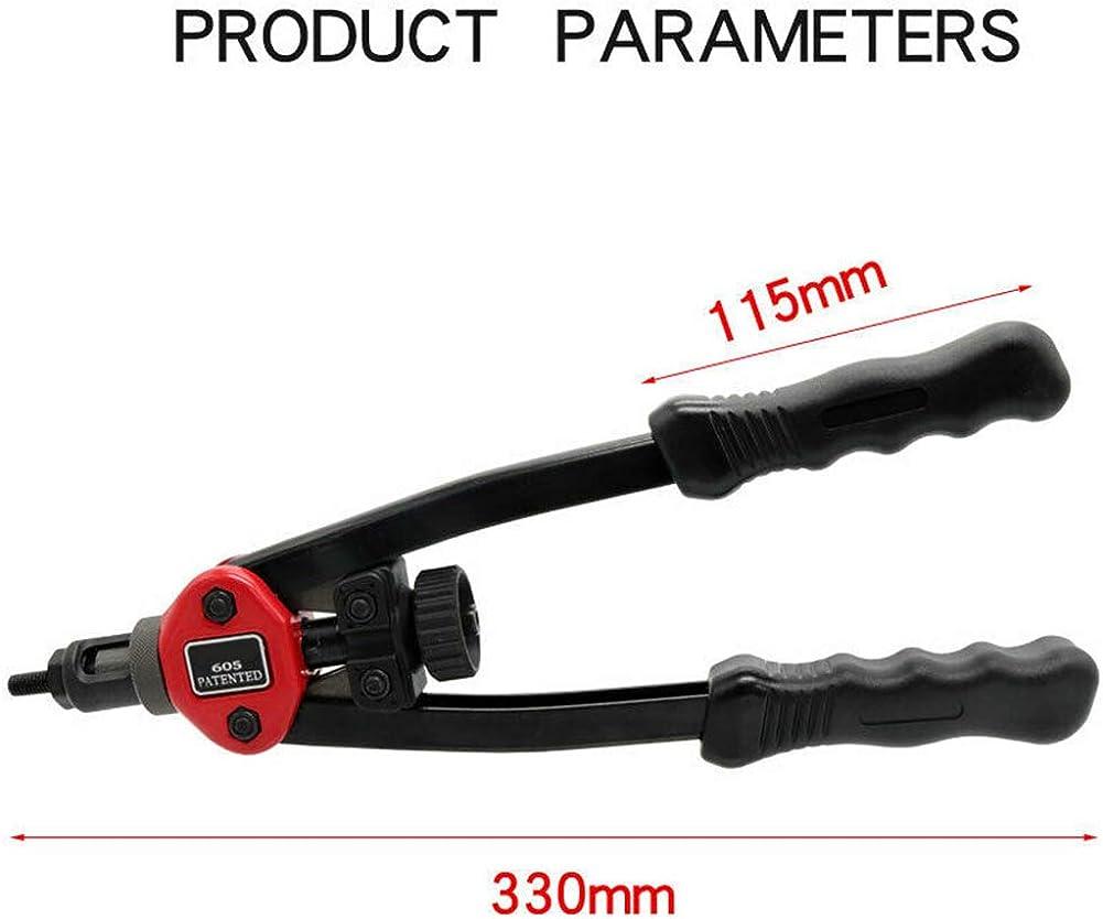 Yusea Easy Automatic Rivet Tool Set Heavy Duty Flexible Handle Rivet Nut Setter Black