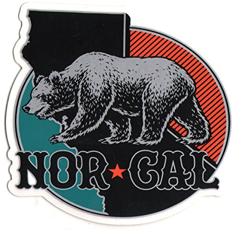 Nor Cal - North Region Skateboard Sticker - 11cm high approx. skate snow surf board bmx guitar van (Best Scenic Drives In Northern California)