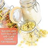 Galashield Glass Jars with Airtight Lids Kitchen