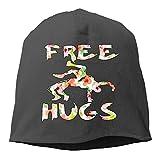 LISY Free Hugs Youth Wrestling Gift Flower Women/Men Wool Hat Soft Stretch Beanies Skull Cap Unisex