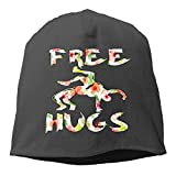 Free Hugs Youth Wrestling Gift Flower Women/Men Wool Hat Soft Stretch Beanies Skull Cap Unisex