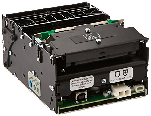 Zebra Technologies 01973-000 Series TTP2000 Direct Thermal Kiosk Receipt Printer, 203 dpi Resolution, USB Connection, Black