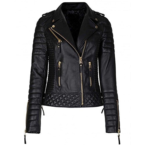 Leather Bomber Motorcycle Jacket - 5