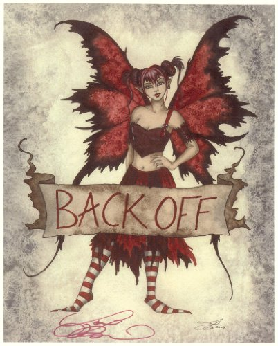 Back Off Red Amy Brown Signed 8.5