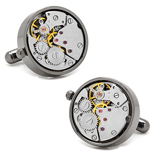 Gunmetal Watch Movement Cufflinks by Ox and Bull Trading Co