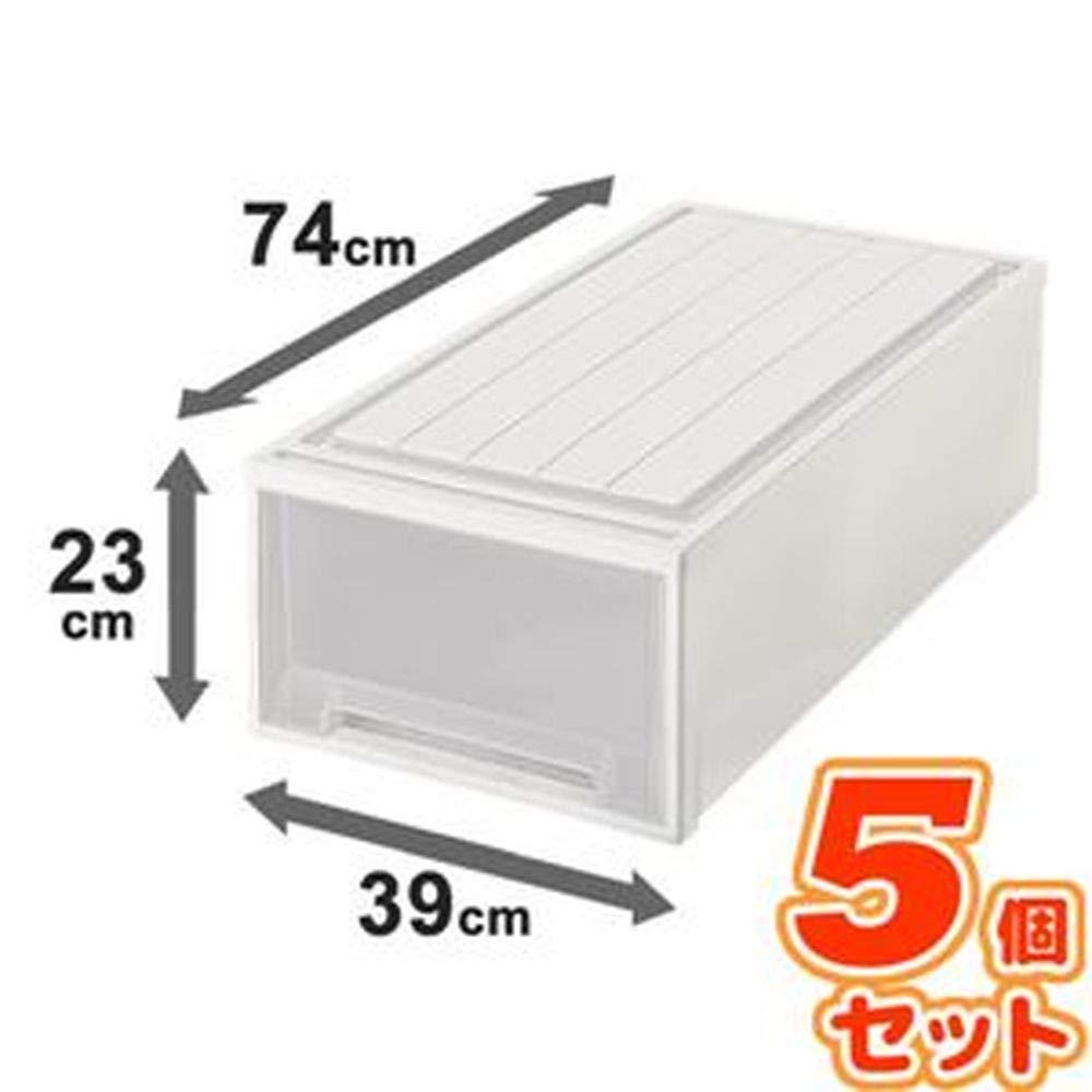 -5個セット-ビュートケース-押入れ収納/衣装ケース-幅39cm×高さ23cmカプチーノ日本製 B07TG1HP53