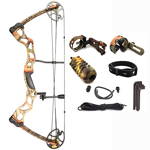 "SAS Rage 70 Lbs 30"" Compound Bow (Camo Green with Full Accessories)"