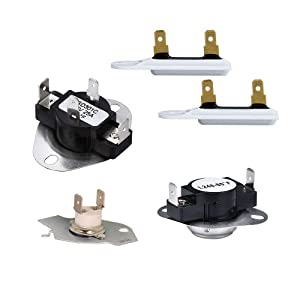 279769 Dryer Thermal Cut-Off Kit,3392519 Dryer Thermal Fuse and 3387134 Dryer Thermostat Compatible with Whirlpool & Kenmore Dryer Replacement Part by AMI
