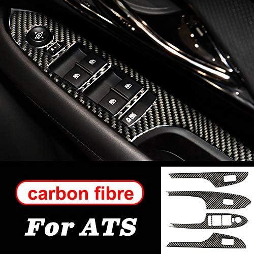 MYlnb Zubehör Styling ABS Carbon Carbon Stil Lenkrad Getriebe Tür Mittelkonsole Interne Aufkleber, Für Cadillac ATS 2013 2014 2015