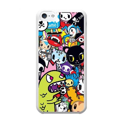 Coque,Coque iphone 5C Case Coque, Tokidoki Unicorno Cover For Coque iphone 5C Cell Phone Case Cover blanc