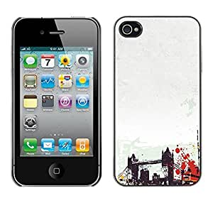 PC/Aluminum Funda Carcasa protectora para Apple Iphone 4 / 4S Brooklyn Bridge New York America Usa Art / JUSTGO PHONE PROTECTOR