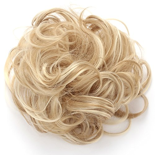 OneDor® Synthetic Clip on/in Messy Hair Bun Extension Chignon Hair Piece Wig (16H613) (Clip On Hair Pieces compare prices)