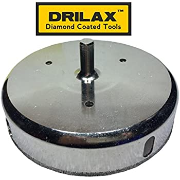"Drilax™ 4-7/8"" Diamond Drill Bit Hole Saw (Smaller Than 5 "") Ceramic, Porcelain Tiles, Glass, Fish Tanks, Marble, Granite, Quartz Diamond Coated Circular Saw - Kitchen, Bathroom, Shower, Faucet Wet Drilling Tool 4 7/8 Inches in Drilax010125"