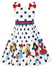 Girls Dress Ladybug Polka Dot Bow Tie