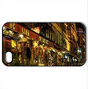 marvelous side street in lyon france - Case Cover for iPhone 4 and 4s (Watercolor style, Black)