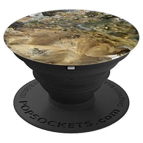 Pretty Pyrite Crystal Art Handle In Cool Fools Gold Mineral - PopSockets Grip and Stand for Phones and Tablets
